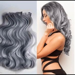 Grey 20inches Clip Ins